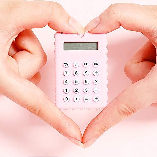 XBAO eenvoudige rekenmachine, calculator, rekenmachine met meerdere kleuren, 8-cijferig display, duurzaam, standaard rekenmachine