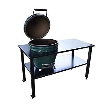 TITAN GREAT OUTDOORS Ceramic Grill Table Aluminum Fits Large BGE Kamado Joe
