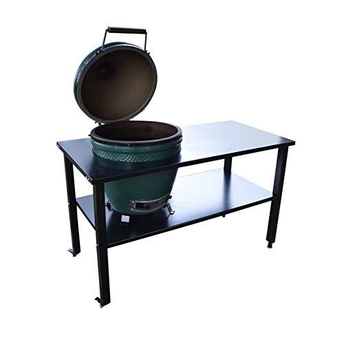 TITAN GREAT OUTDOORS Ceramic Grill Table | Aluminum | Fits Large BGE, Kamado Joe
