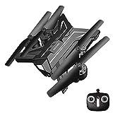 Mini Drone Camera HD,VidéO en Direct Et GPS Rentrent chez Eux avec Une CaméRa RéGlable WiFi 1080p Grand-Angle RéGlable,Black-Silver,No-Camera
