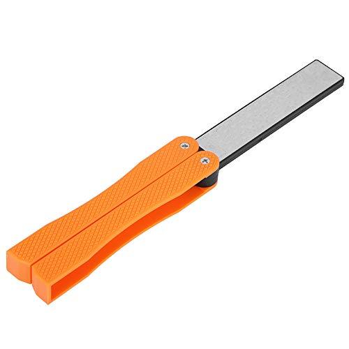 Affilacoltelli portatile, Affilacoltelli pieghevole bifacciale, Affilacoltelli antiscivolo(arancia)