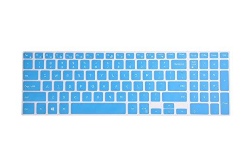 """Leze - Keyboard Cover for Dell Inspiron 15 3000 5000 7000 Series, Inspiron 17 5000 Series, 15.6"""" Dell G3 G5 G7, 17.3"""" Dell G3 Series Laptop - Blue"""