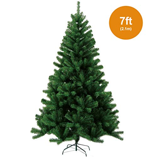 KEPLIN NEW GREEN ARTIFICIAL CHRISTMAS TREE WITH METAL...