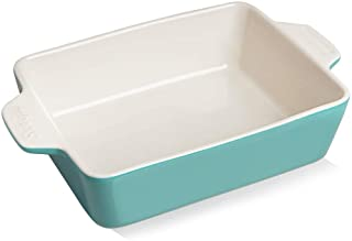 SWEEJAR Ceramic Baking Dish, Rectangular Small Baking Pan with Double Handles, 22OZ for Cooking, Brownie, Kitchen, 6.5 x ...