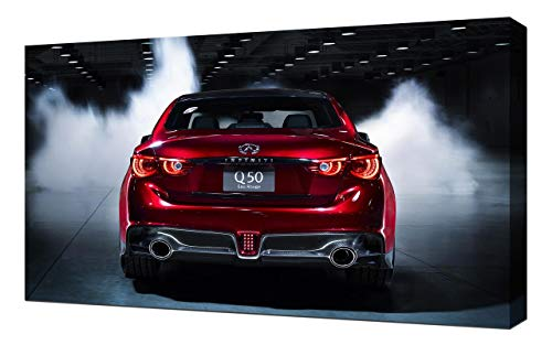 2014-Infiniti-Q50-Eau-Rouge-Concept-V4-1080 - Canvas Art Print - Muur Kunst - Canvas Wrap