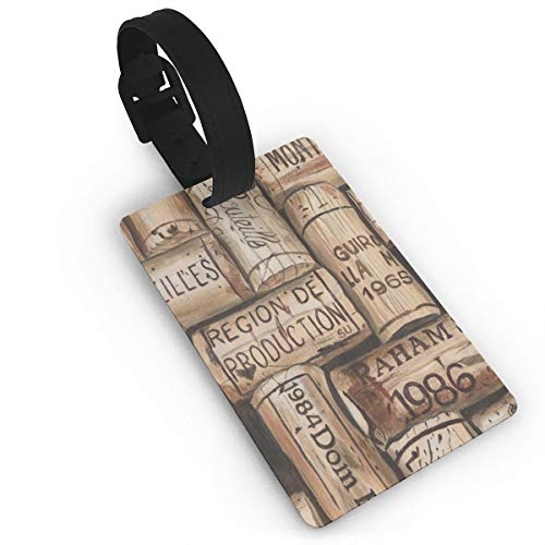 Custom 3D Printed Wine Corks Luggage Tag with Strap