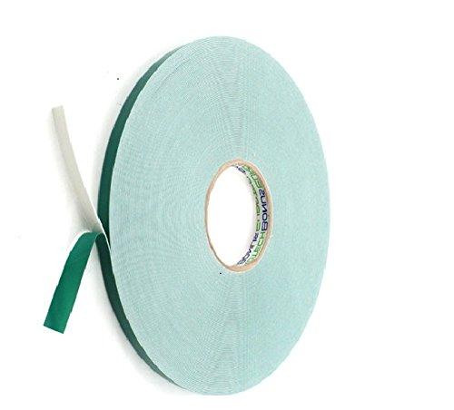 BONUS Eurotech 2BF42.10.0015/010A# Doppelseitiges Schaumstoffklebeband, Acrylklebstoff, Geschlossenzelliger Polyethylen, Länge 10 m x Breite 15 mm x Gesamtdicke 0,8 mm, Weiß