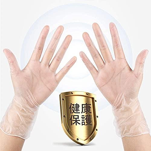 (日本国内検品 100枚入) 使い捨て手袋 ゴム手袋 PVCグローブ ビニール手袋 予防対策 防疫防護 業務用 極うす手 薄手 半透明 プラスチック手袋 手荒れしにくい 快適である 粉なし 携帯電話の併用も可能です 家庭 掃除 調理 検品用 (M)