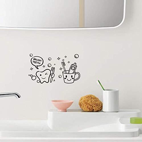 Wandaufkleber Zahnbürste Badezimmer Toilettenpapier Großhandel Benutzerdefinierte Hintergrund Wand Wasserdicht Kann 45 * 26 Cm entfernt werden