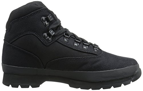 Timberland Men's Euro Hiker Mid Fabric Fashion Sneaker, Black, 13 M US