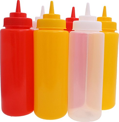 Quetschflasche 6er Set rot gelb weiß