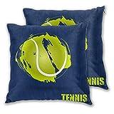 NANITHG Juego de 2 Fundas de cojín,Vector Pelota de Tenis,D