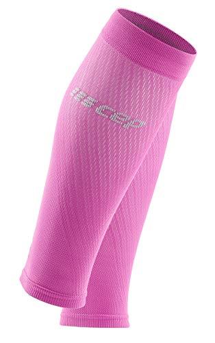 CEP – Ultralight Compression Calf Sleeves für Damen | Waden Beinlinge mit Kompression in pink/hellgrau | Größe III