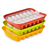 A-XINTONG 12 Cavities Sausage Hot Dogs Silicone Baking Mold, 3 Pack DIY homemade Hamburger Pan Sausage Hot Dogs Mold lce Tray Candy Jelly Chocolate Mould Kitchen Baking Tools