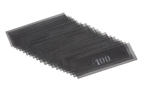 Meister Schleifgitter - Korn 100 - 280 x 93 mm - 20 Stück / Gitterleinen für Handschleifer / Rigips-Schleifpapier / Schleifmittel für Trockenbau / Flächenschleifer / Sandpad / 4137850