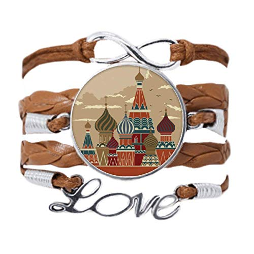 DIYthinker Russia Cathedral Building Red Square Bracelet Love Chain Rope Ornament Wristband Gift