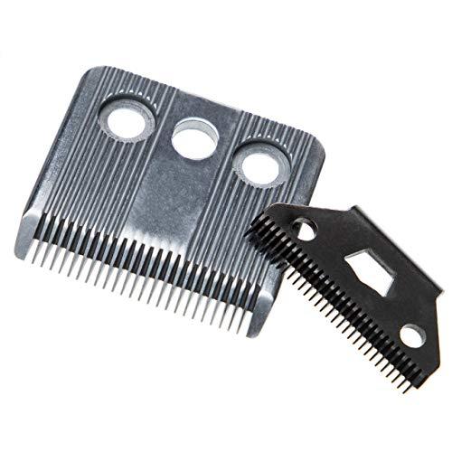vhbw Juego de corte 2x hojas compatible con Moser 1170 (C), 1173, 1400 (A-F), 1406, 1420 (A-C), Edition 1400 máquinas de cortar el pelo