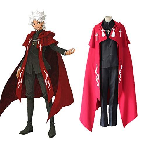XTD Cosplay Ropa Fate APOCRIPHA Anime AMAKUSA SHIROU TOKISADA Hombre Adulto Disfraz De Halloween Set Cloak + Coat + Pantalones + Cinta + Cross L