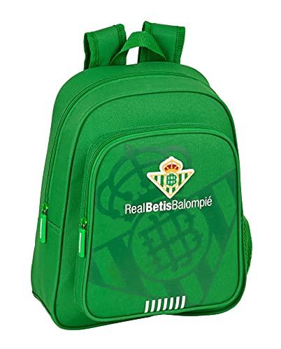 Safta Mochila Infantil de Real Betis Balompié, 280x100x340 mm, Verde