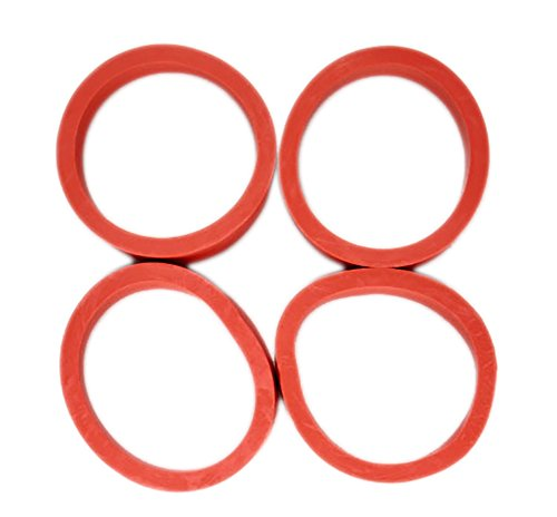 game room guys pinball machine flipper rubber – red – set of 4