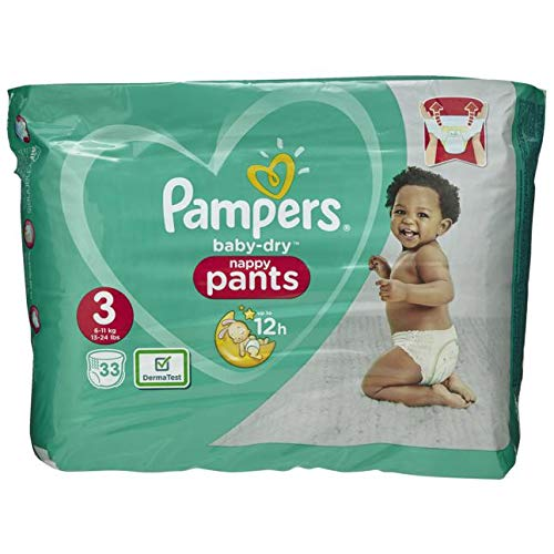 Pampers Baby-Dry Pants Größe3, 33Windeln