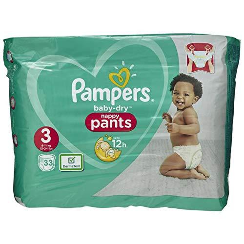 Pampers Baby-Dry Pants Größe 3, Mit Luftkanälen, 33 Windeln