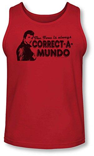 Happy Days - - Correction d'un Mundo Tank-Top pour hommes, Small, Red