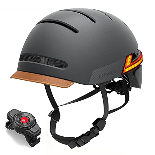 LIVALL Smart Bike Helmet with Auto Sensor LED, Turn Signal Tail Lights, Connects via Bluetooth for Music & Calls, SOS Alert, Certified Comfortable Cycling Helmet