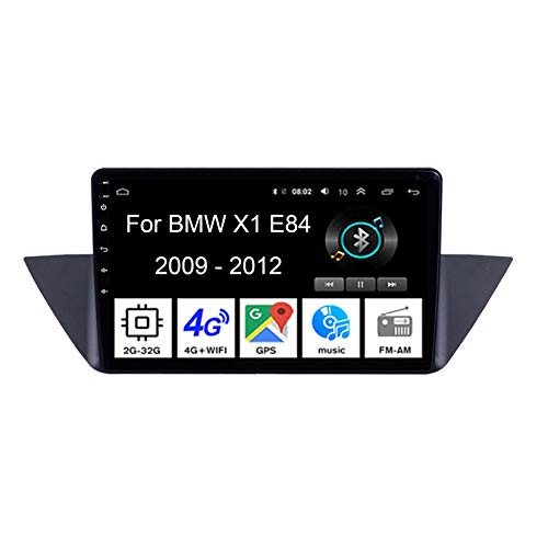 Android 10 Car Stereo 9 Pulgadas Pantalla Tactil para Coche Multimedia Navegación GPS para BMW X1 E84 2009-2012 4 Cores 2G+32G con Pantalla Coche Conecta Y Reproduce Video SWC Cámara Trasera