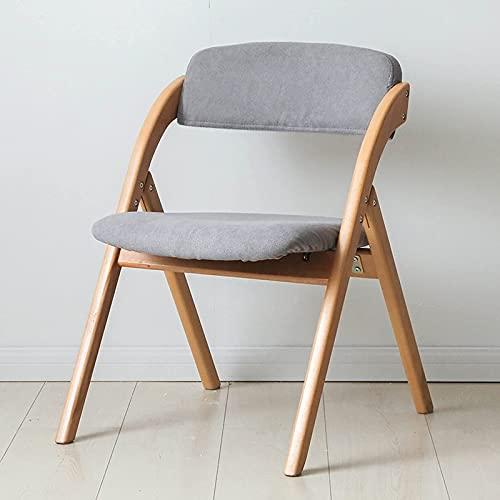 Silla plegable de jardín, silla de comedor de madera maciza simple nórdica...