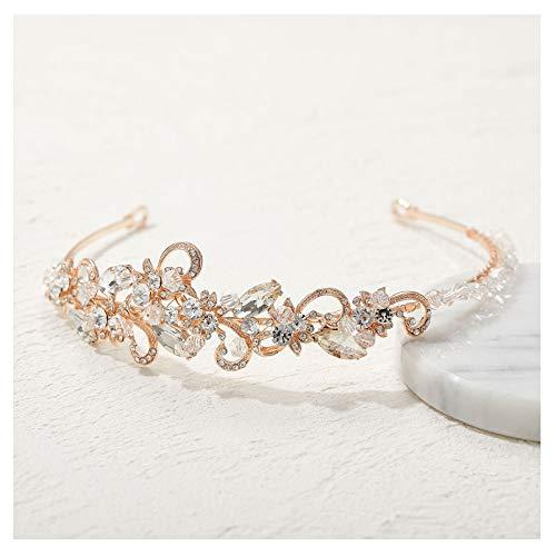 SWEET Roségold Bridal Stirnbänder - Kristall Haarband Hochzeit Diadem Haarschmuck für Damen