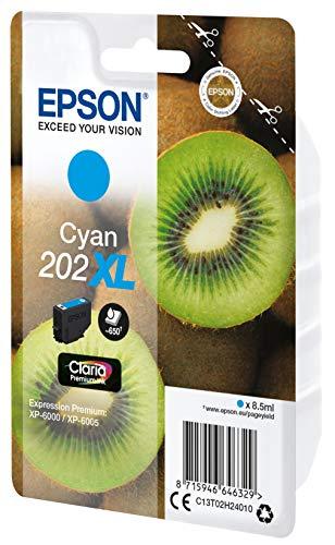 Epson Singlepack Cyan 202XL Claria Premium Ink Tintenpatrone (Cyan, Epson, Expression Premium XP-6000, XP-6005, C13T02H24010, 8,5 ml)