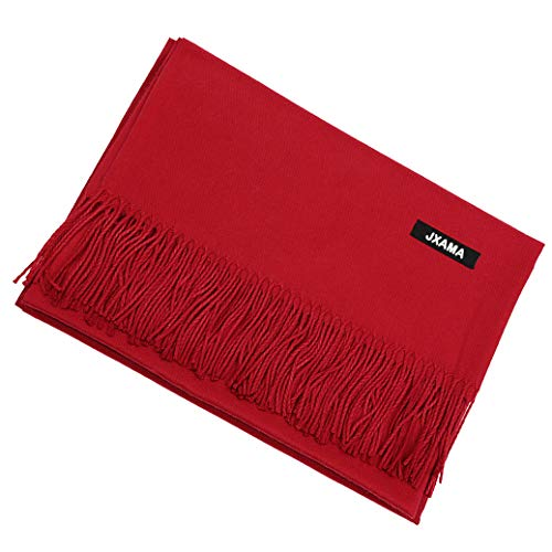 JXAMA Red Women scarf Winter Large Scarves