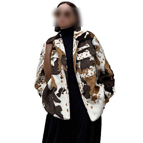 Outwear De Piel Sintética Abrigo De Las Mujeres Largo Caliente Abrigo De 2020 Moda De Vaca Láctea Textura Diseño De Imitación De Visón De Invierno De La Felpa De
