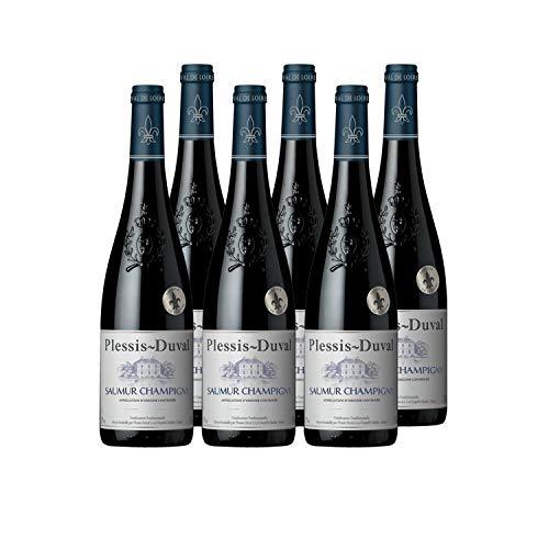 Plessis Duval - AOP Saumur Champigny - Vin Rouge - Millésime 2020 - Lot de 6 bouteilles x 75 cl
