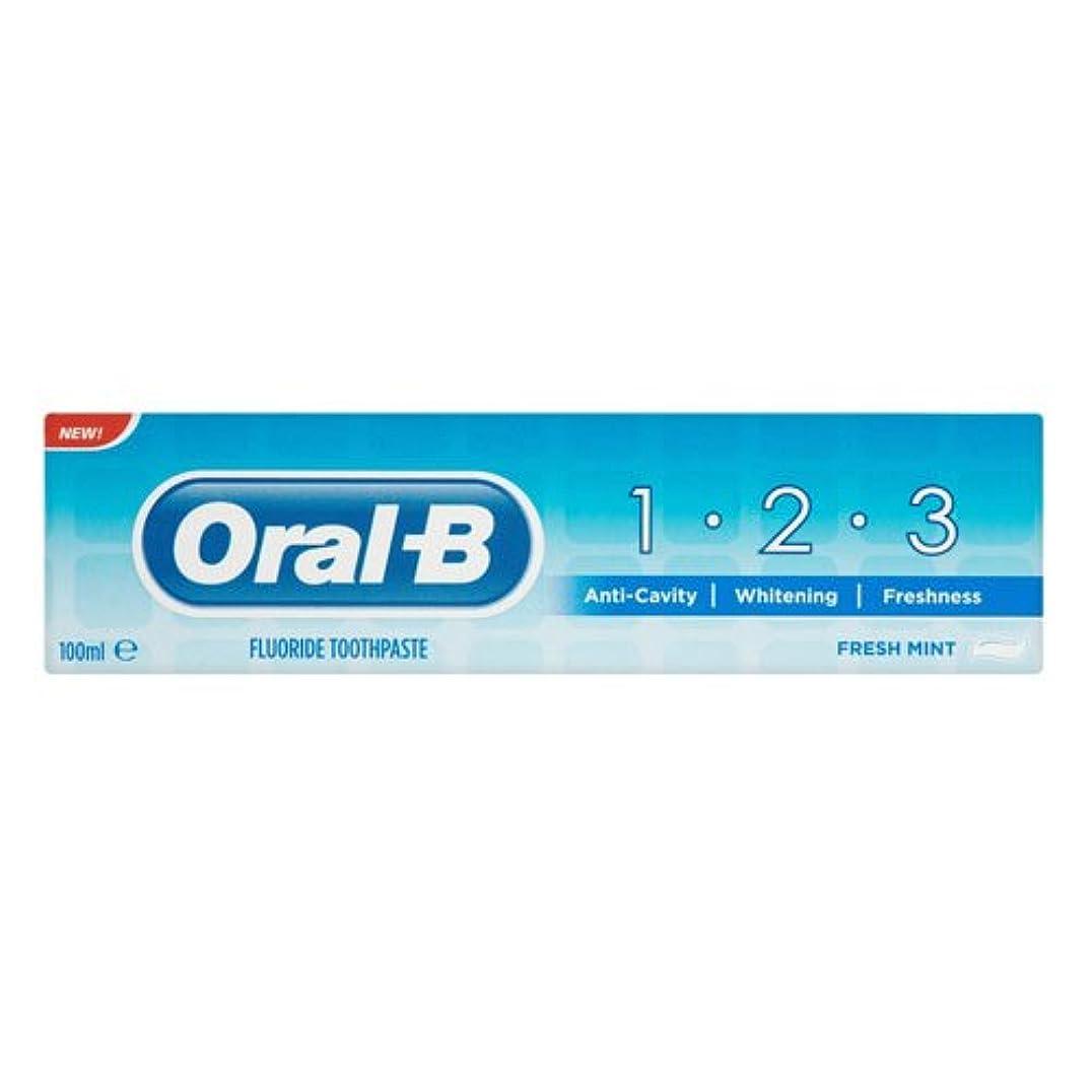 岩毛皮クレデンシャルOral B 123 Toothpaste (100ml) 経口b 123歯磨き粉( 100ミリリットル)