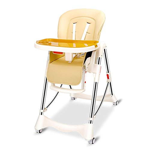 Why Choose Foldable Baby High Chair, Food-Grade Double Dining Plate, 6-Position Portable Dining Chair with Wheels