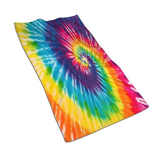 KiuLoam Rainbow Swirl Tie Dye toalla de mano ultra suave altamente absorbente toallas de lujo para baño gimnasio spa