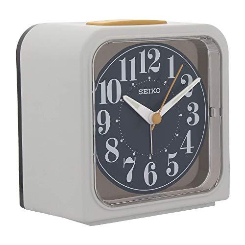 Seiko Blue Dial White Square Alarm Clock