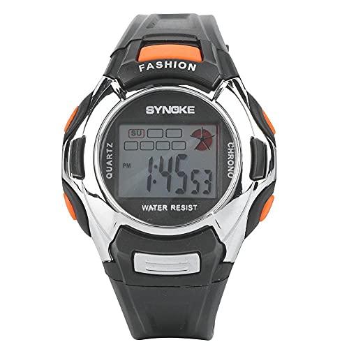 Relojes de pulsera electrónicos multifunción luminosos digitales para niños, niños y niñas, reloj deportivo, banda para llanta de bicicleta, 2 uds.Capa intermedia de protección