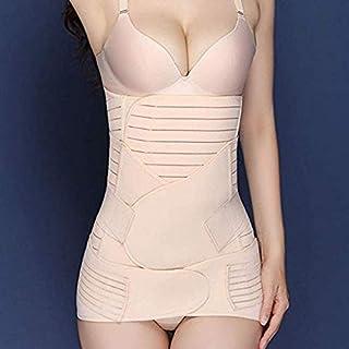 Cocosmart Body Shaper For Women, Wowen 3 In 1 Recovery Belly Wrap Waist/Pelvis Belt Shaper Postnatal Shapewear Beige X-Large