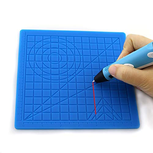 3D Printing Pen Silicone Design Mat, 3D Pens Drawing Tools,with 2 Silicone Finger Caps, 3D Pen Drawing Multi Templates Mat for Beginners and Children