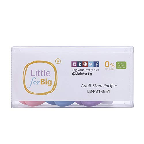 Littleforbig LittleForBig 大人用おしゃぶり乳首 ABDL 3個セット [8418]