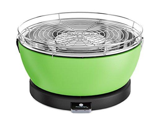 Feuerdesign Vesuvio Grill e Pinza per Barbecue, Diametro 33 cm, Acciaio Inossidabile, Verde