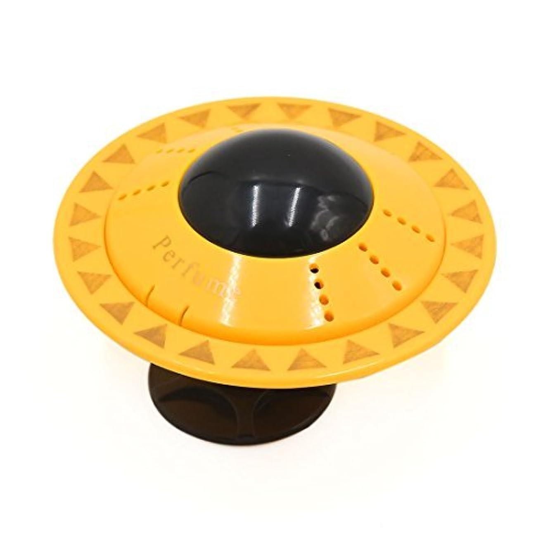 名門インデックス抜本的なDealMuxイエローUFO形のデザインカー香水ブロックフレグランスディフューザーエアーフレッシュナー