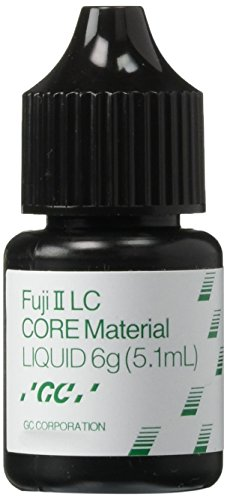 GC America 000183 Fuji II Light-Cured Glass Ionomer Core Build-Up Material Liquid, 45 mL