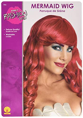 Rubie's Costume Mermaid Adult Costume Wig, Red, One Size