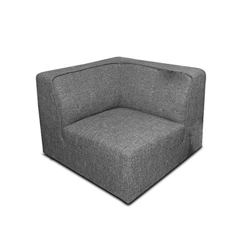 Meubletmoi module voor slaapbank, aanpasbaar, grijs - modern design - Milan Hedendaagse angle grijs.