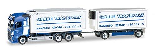 Herpa 306997 - Fahrzeug,Volvo FH Gl. Wechselkühlkoffer-Hängerzug Spedition Garbe