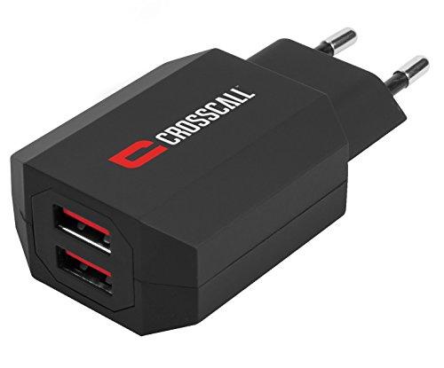 Crosscall Dual-USB Caricabatteria a corrente, Nero
